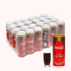 Thùng 24 lon nước ngọt Coca Cola thêm cà phê 330ml