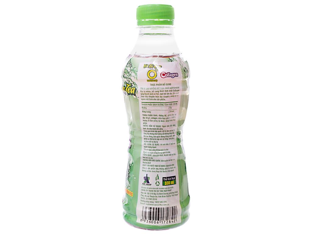 Trà bí đao Không Độ Collagen 330ml 2