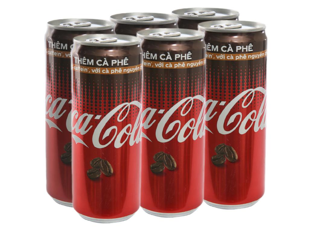 6 lon nước ngọt Coca Cola cà phê 330ml 1