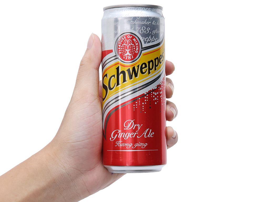 Schweppes Dry Ginger Ale hương gừng 330ml 4