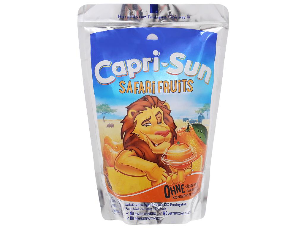 Nước ép trái cây Capri-Sun Safari Fruits hỗn hợp 200ml 1