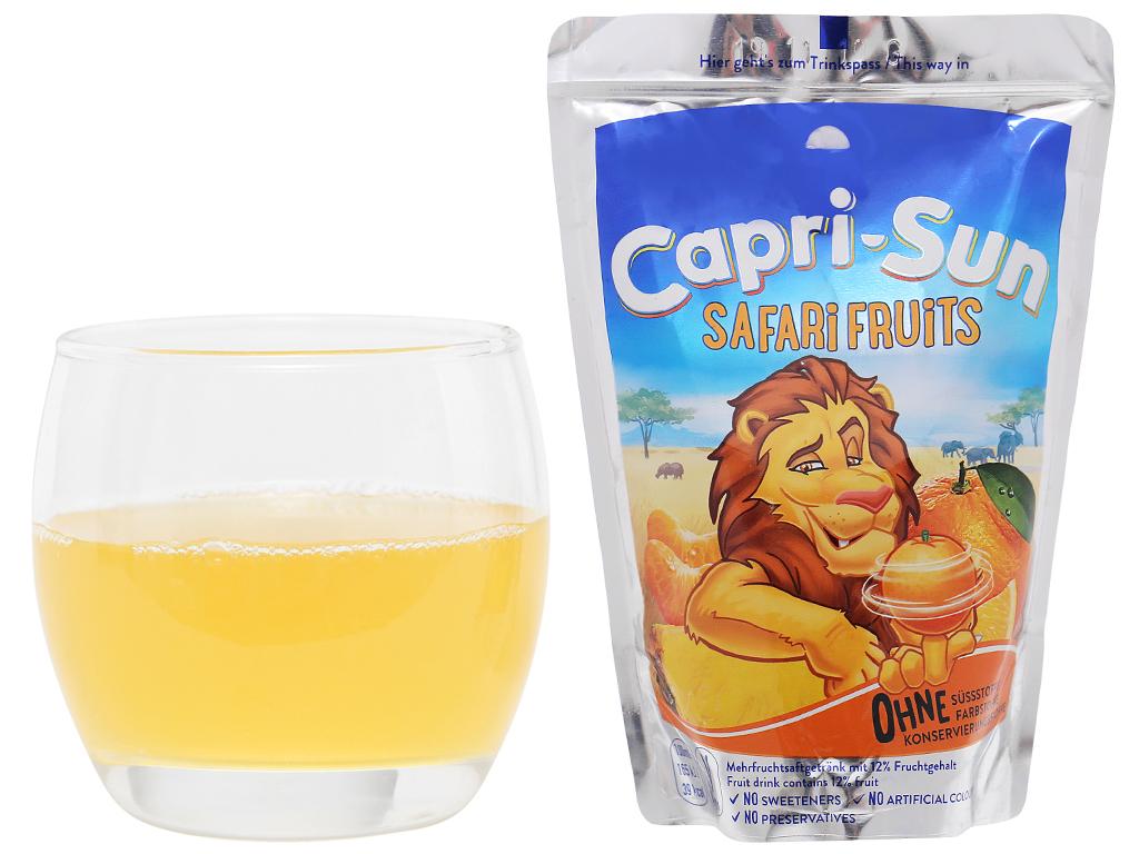 Nước ép trái cây Capri-Sun Safari Fruits hỗn hợp 200ml 4