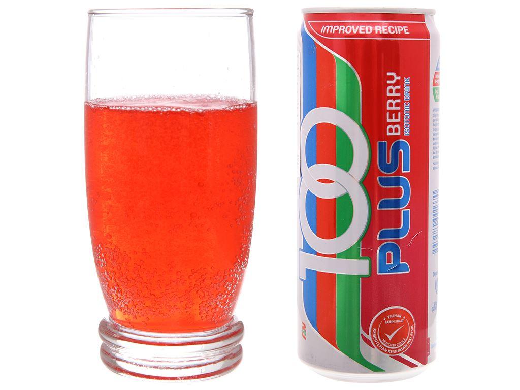 Nước ngọt 100Plus hương dâu 325ml 4