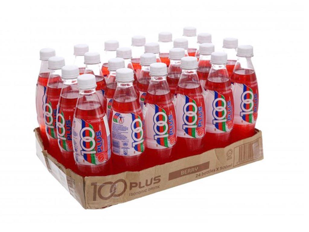 Thùng 24 chai nước ngọt 100Plus hương dâu 500ml 1