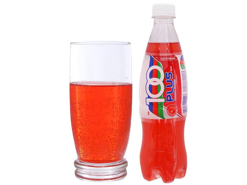 Thùng 24 chai nước ngọt 100Plus hương dâu 500ml 3