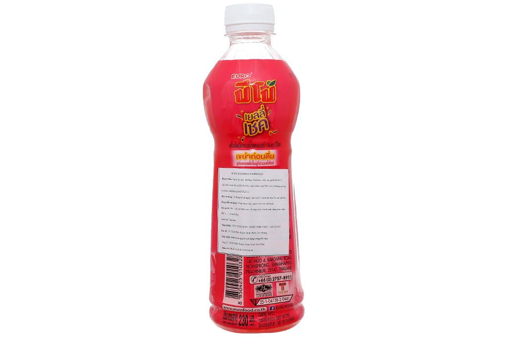 Thùng 24 chai nước thạch lắc Pipo vị dâu 230ml 3