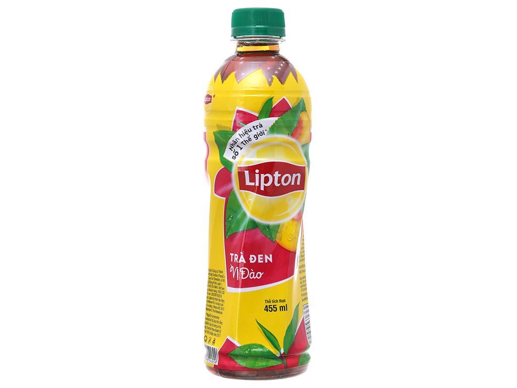 Thùng 24 chai trà đen Lipton vị đào 455ml 2
