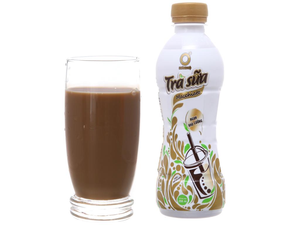 Thùng 24 chai trà sữa Macchiato Không Độ 268ml 4