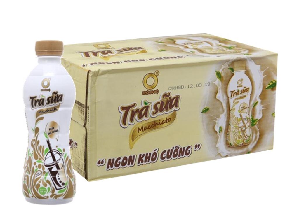 Thùng 24 chai trà sữa Macchiato Không Độ 268ml 1