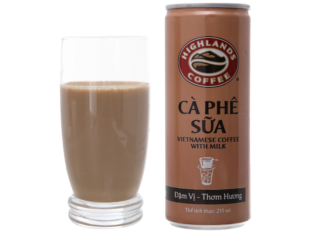 Cà phê sữa Highlands 235ml 4