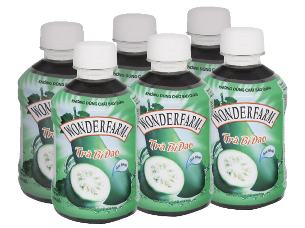 6 chai trà bí đao Wonderfarm 280ml 1