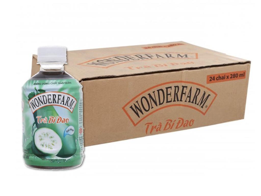Thùng 24 chai trà bí đao Wonderfarm 280ml 1