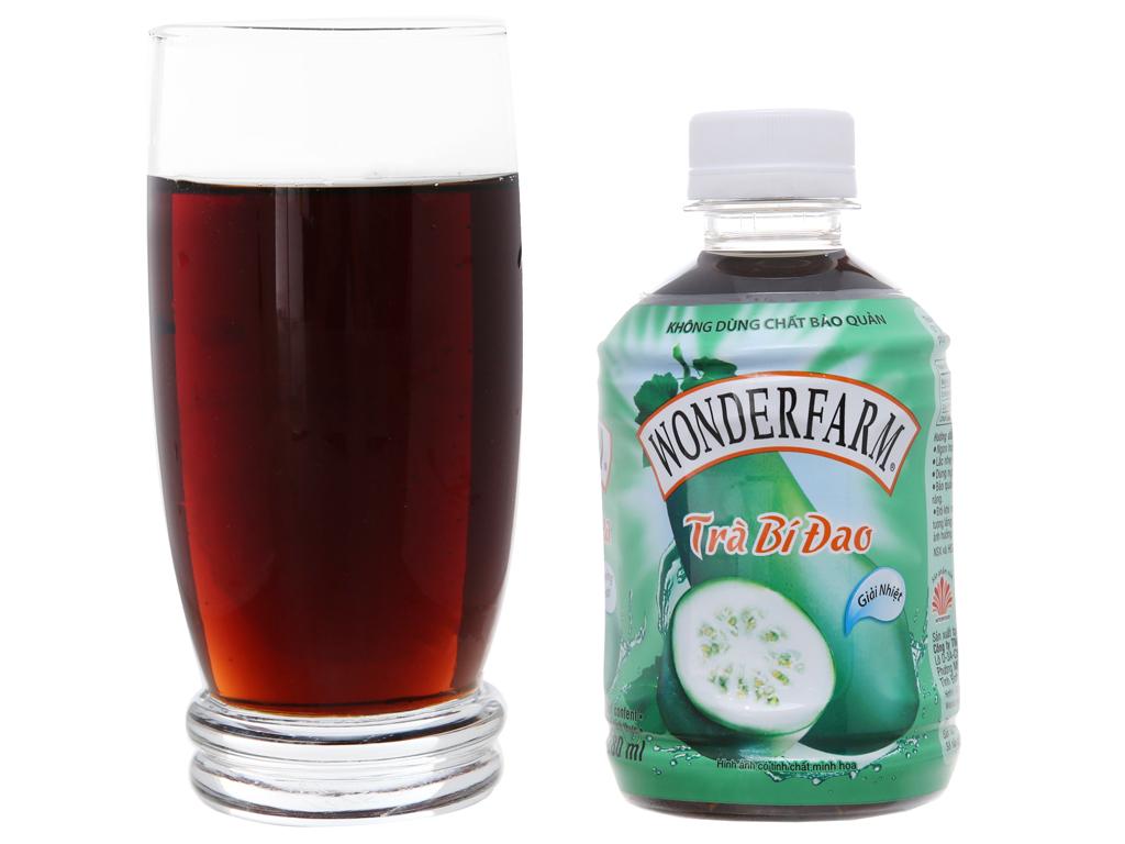Thùng 24 chai trà bí đao Wonderfarm 280ml 5