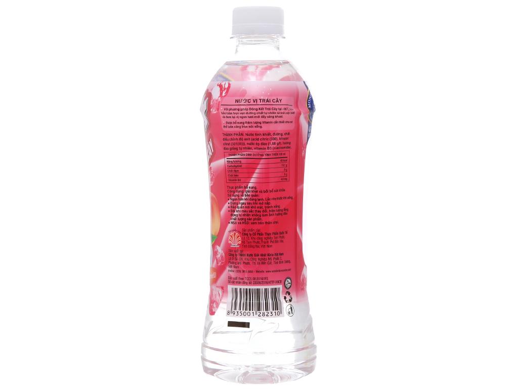 Thùng 24 chai nước trái cây Ice+ vị đào 490ml 3