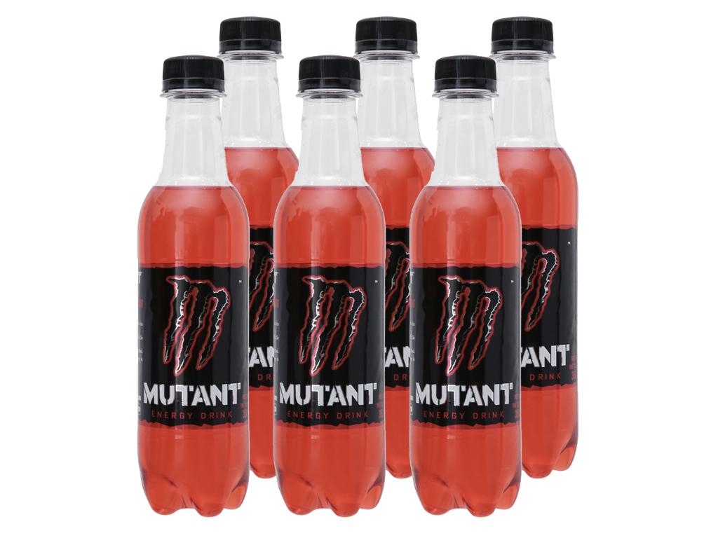 6 chai nước tăng lực Mutant Energy Red Dawn 350ml 1
