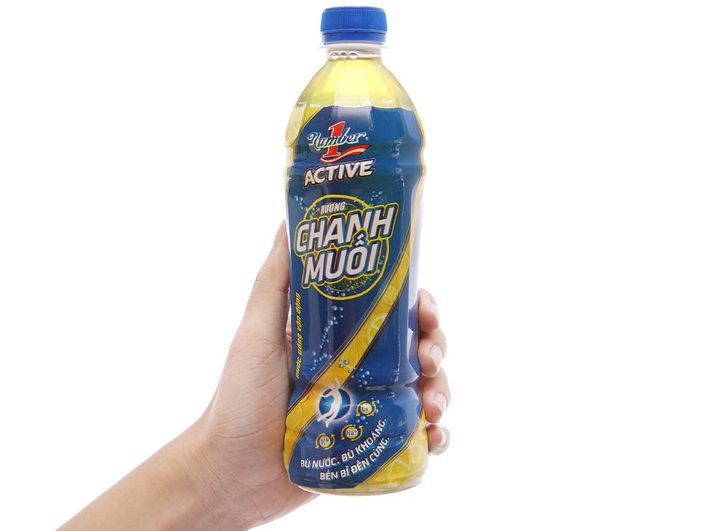 Thùng 24 chai nước uống vận động Number1 Active vị chanh muối 455ml 5