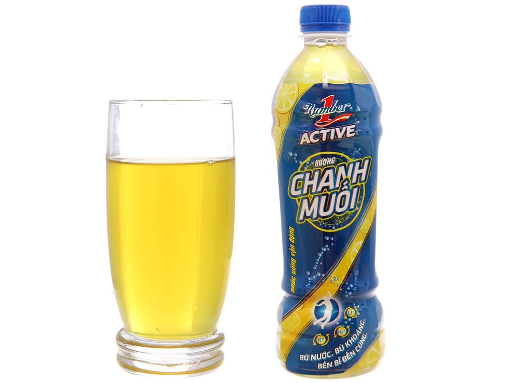 Thùng 24 chai nước uống vận động Number1 Active vị chanh muối 455ml 4