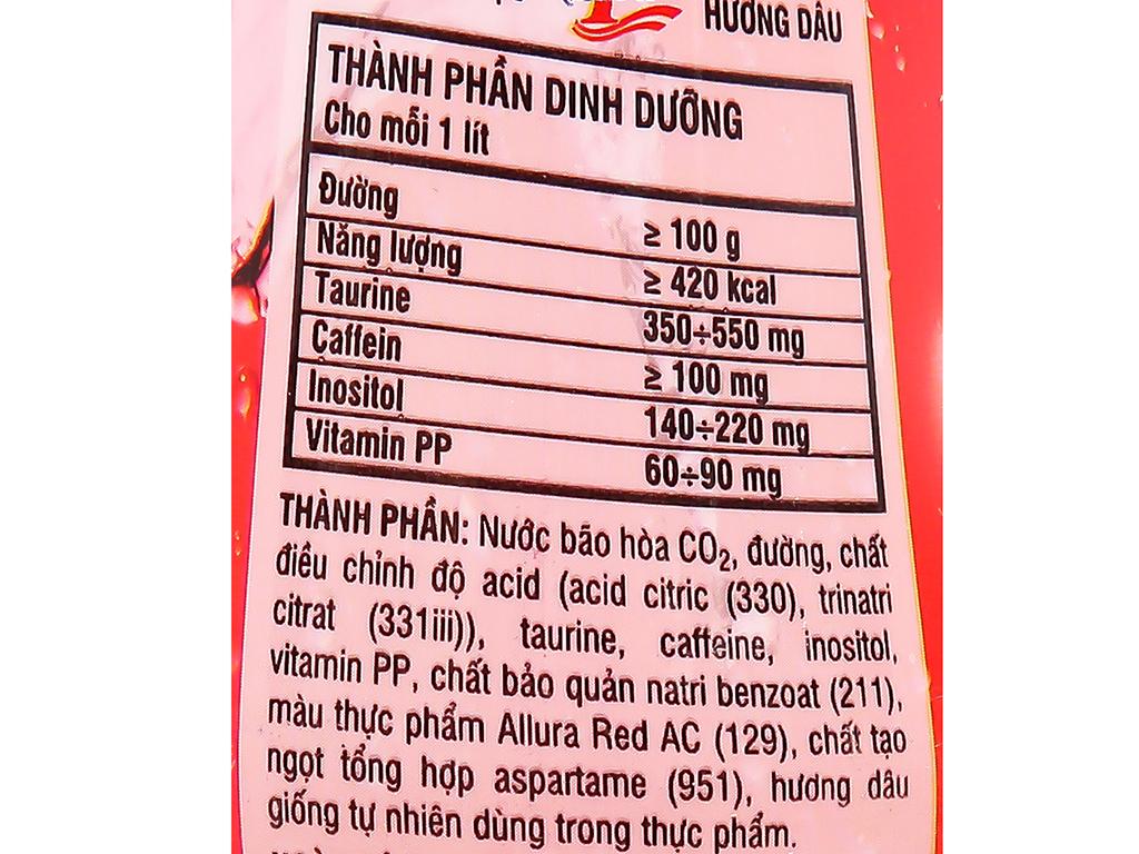 Thùng 24 chai nước tăng lực Number1 hương dâu 330ml 4