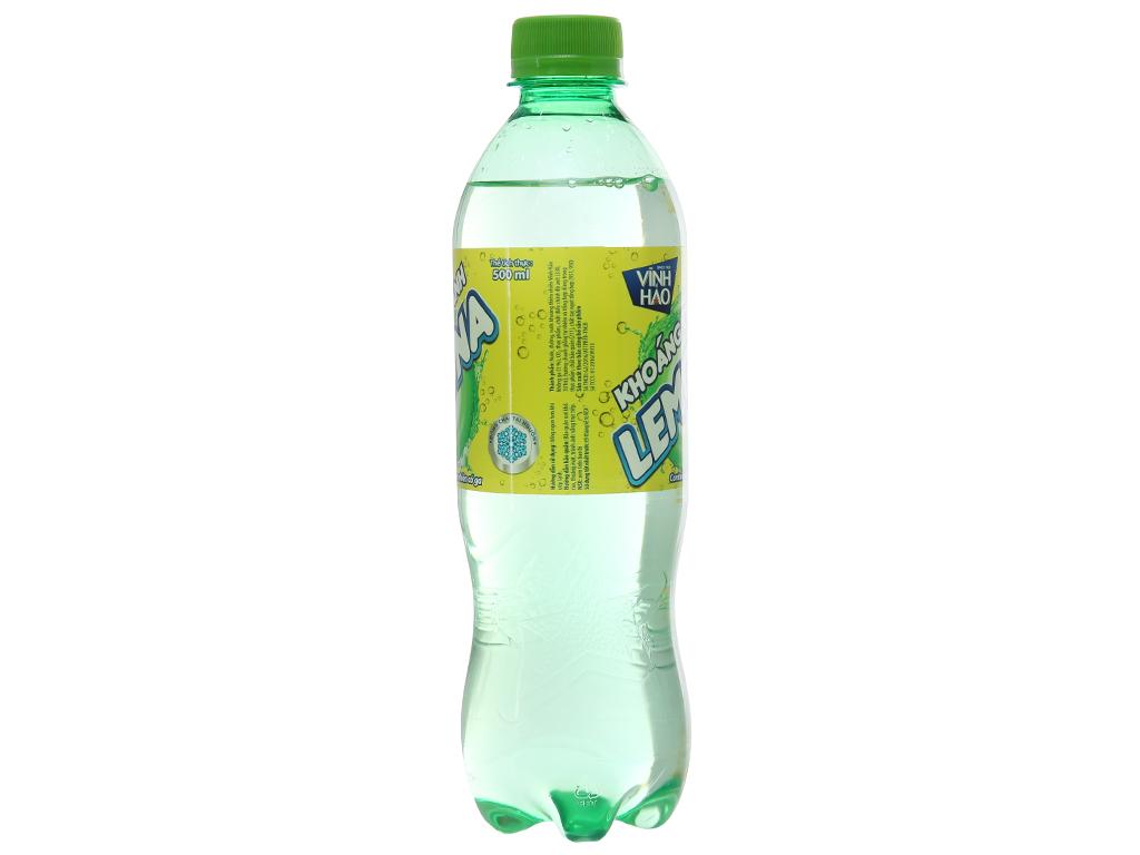 Thùng 24 chai nước khoáng có ga Vĩnh Hảo Lemona vị chanh 500ml 3