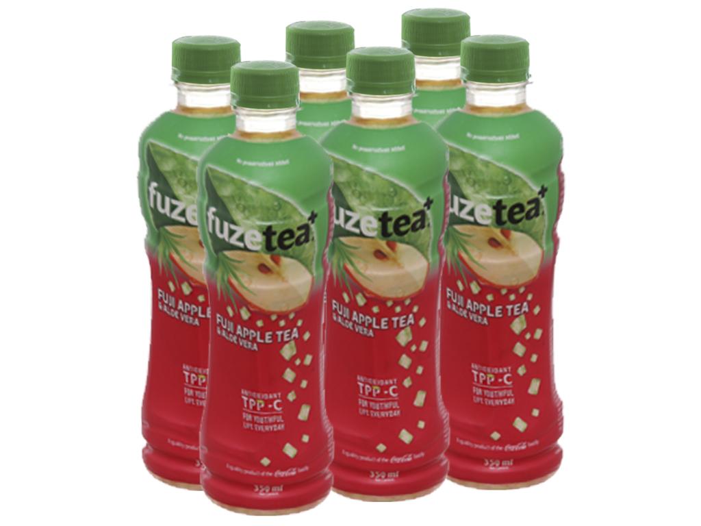 6 chai trà táo Fuji và nha đam Fuze Tea 350ml 1