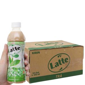 Thùng 24 chai trà sữa Kirin Latte 345ml