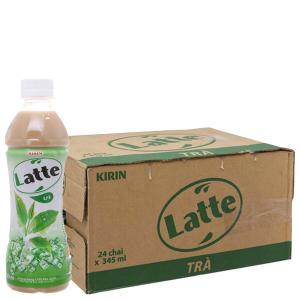 Thùng 24 chai trà sữa Latte Kirin 345ml