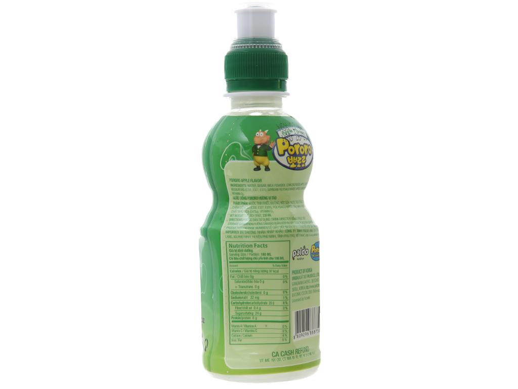 Nước trái cây Pororo vị táo 235ml 2
