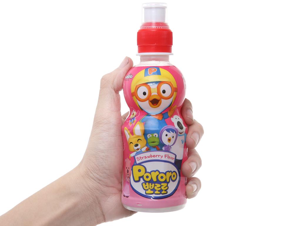 Nước trái cây Pororo vị dâu 235ml 4