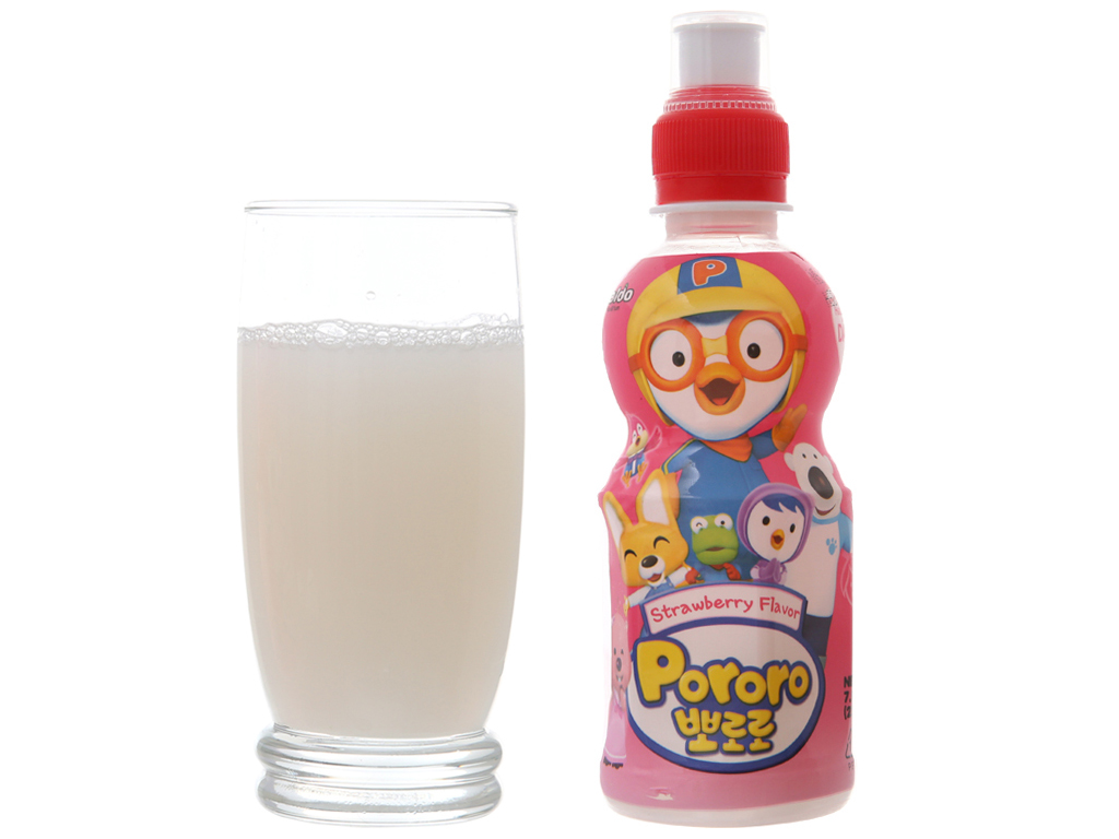 Nước trái cây Pororo vị dâu 235ml 3