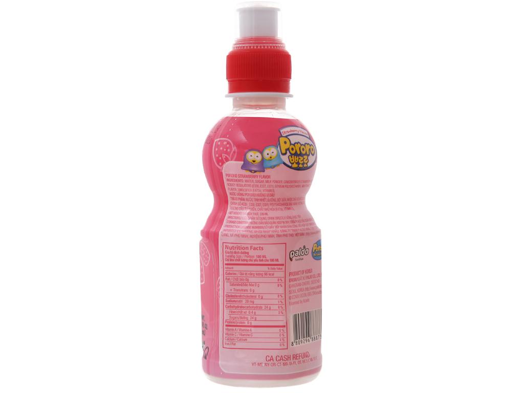 Nước trái cây Pororo vị dâu 235ml 2