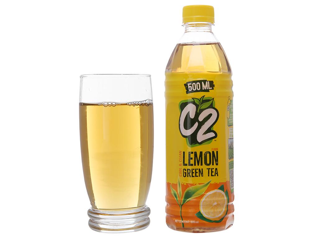 6 chai trà xanh C2 hương chanh 500ml 5