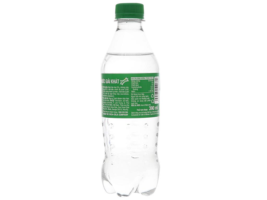 Thùng 24 chai nước ngọt Sprite hương chanh 390ml 3