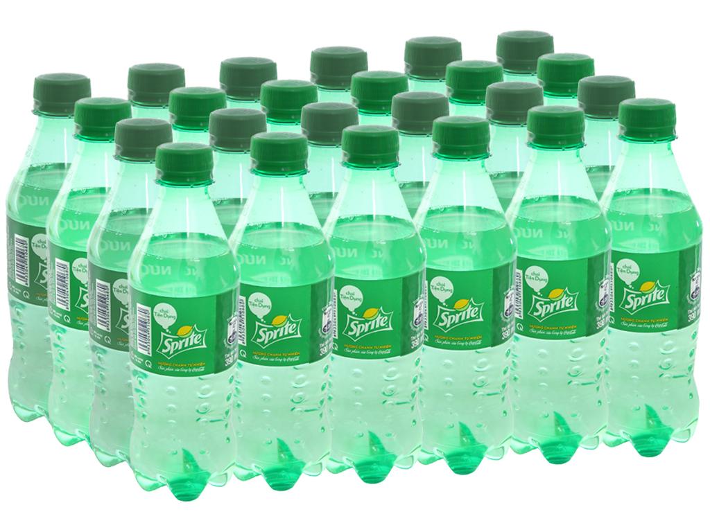Thùng 24 chai nước ngọt Sprite hương chanh 390ml 1