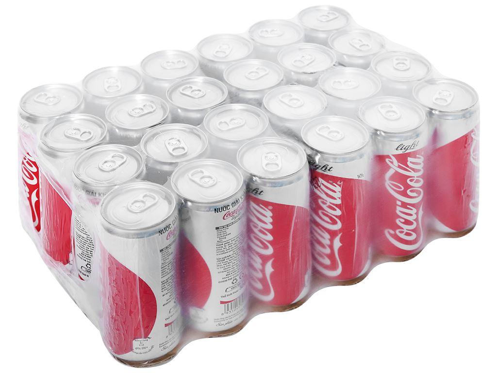 24 lon nước ngọt Coca Cola Light 330ml 1