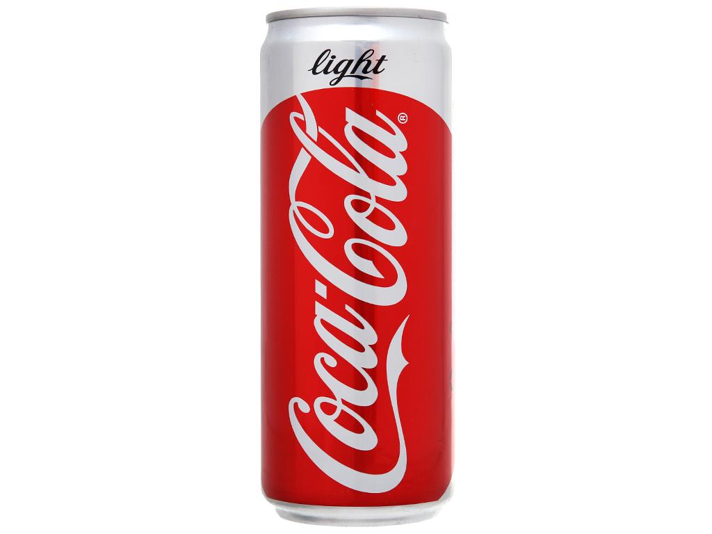24 lon nước ngọt Coca Cola Light 330ml 2