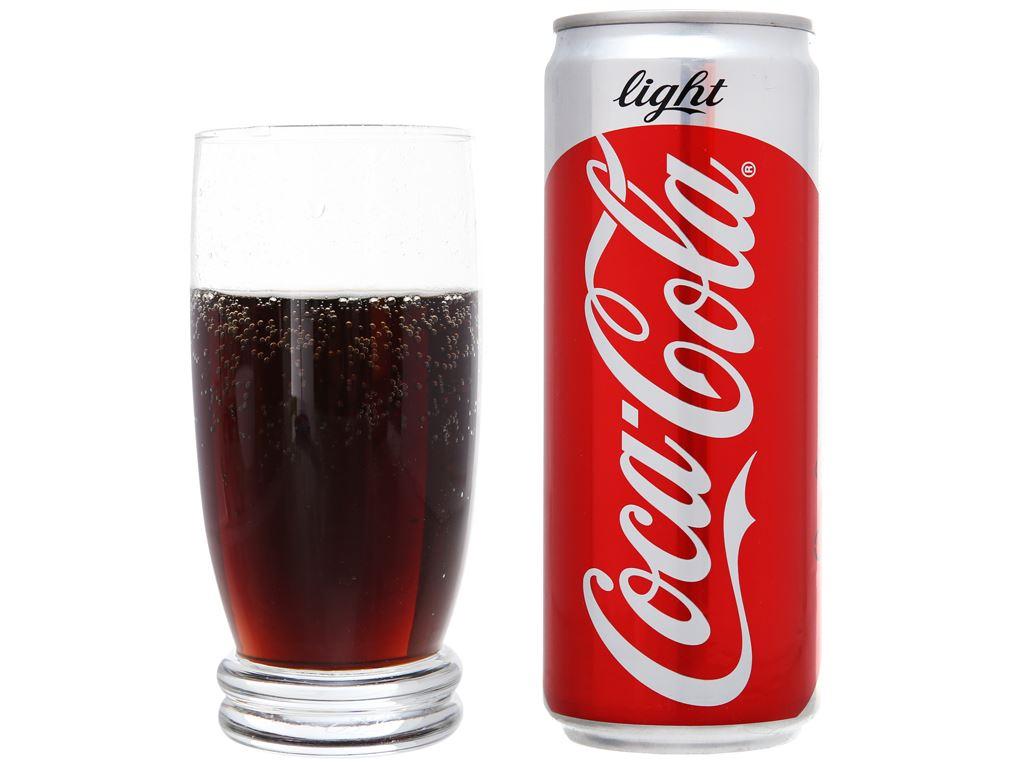 Thùng 24 lon nước ngọt Coca Cola Light 330ml 5