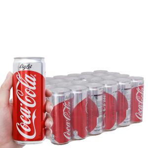 Thùng 24 lon nước ngọt Coca Cola Light 330ml