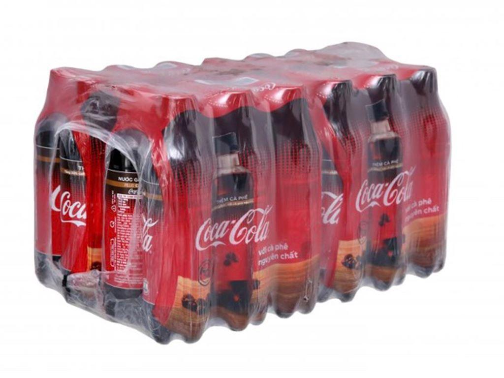 Thùng 24 chai nước ngọt Coca Cola cà phê 390ml 1