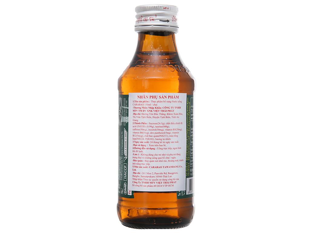 Thùng 50 chai nước tăng lực Carabao 150ml 3