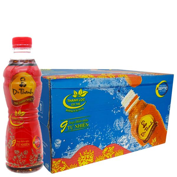 Thùng 24 chai trà thanh nhiệt Dr.Thanh 455ml 1