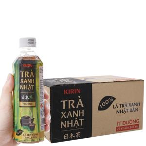 Thùng 24 chai trà xanh Nhật Kirin ít đường 345ml