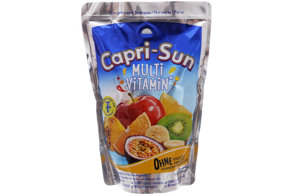 Thùng 10 gói nước ép trái cây Capri-Sun hỗn hợp 200ml 2