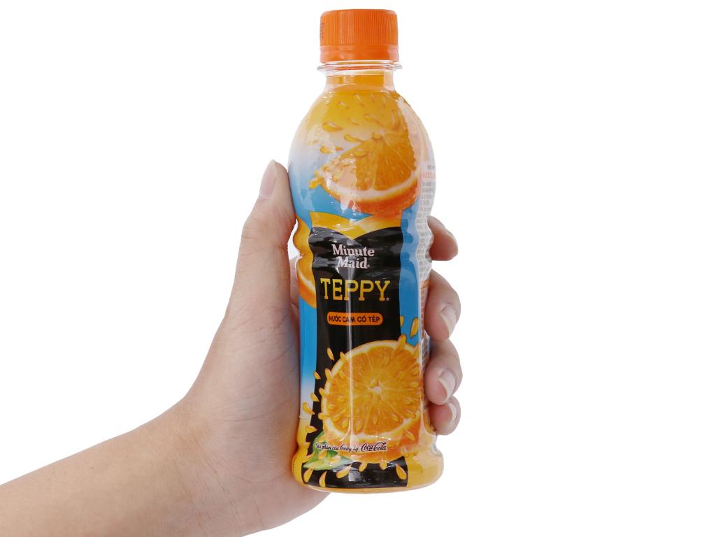 6 chai nước cam có tép Teppy 327ml 6