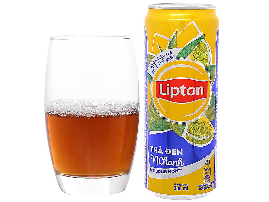 Thùng 24 lon trà đen Lipton vị chanh 330ml 5