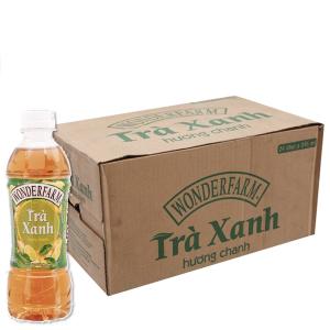 Thùng 24 chai trà xanh Wonderfarm hương chanh 345ml