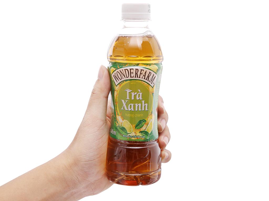 Thùng 24 chai trà xanh Wonderfarm hương chanh 345ml 4
