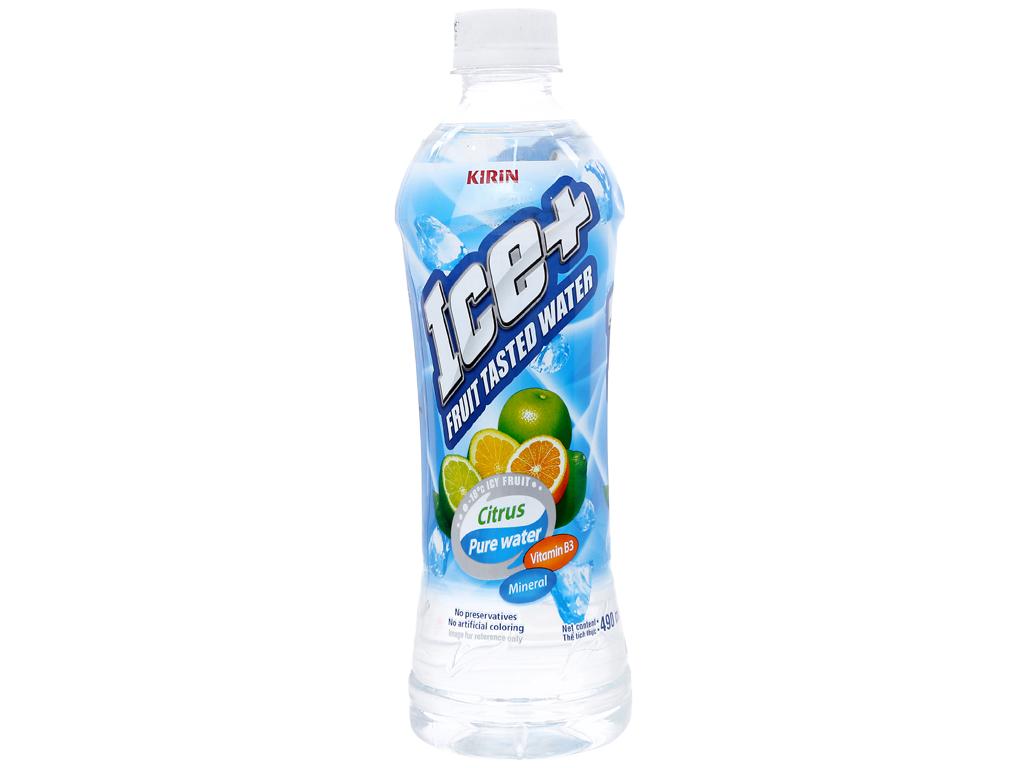 Thùng 24 chai nước trái cây Ice+ vị cam chanh 490ml 4