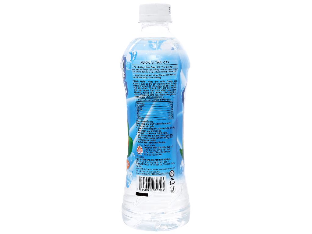 Thùng 24 chai nước trái cây Ice+ vị cam chanh 490ml 5