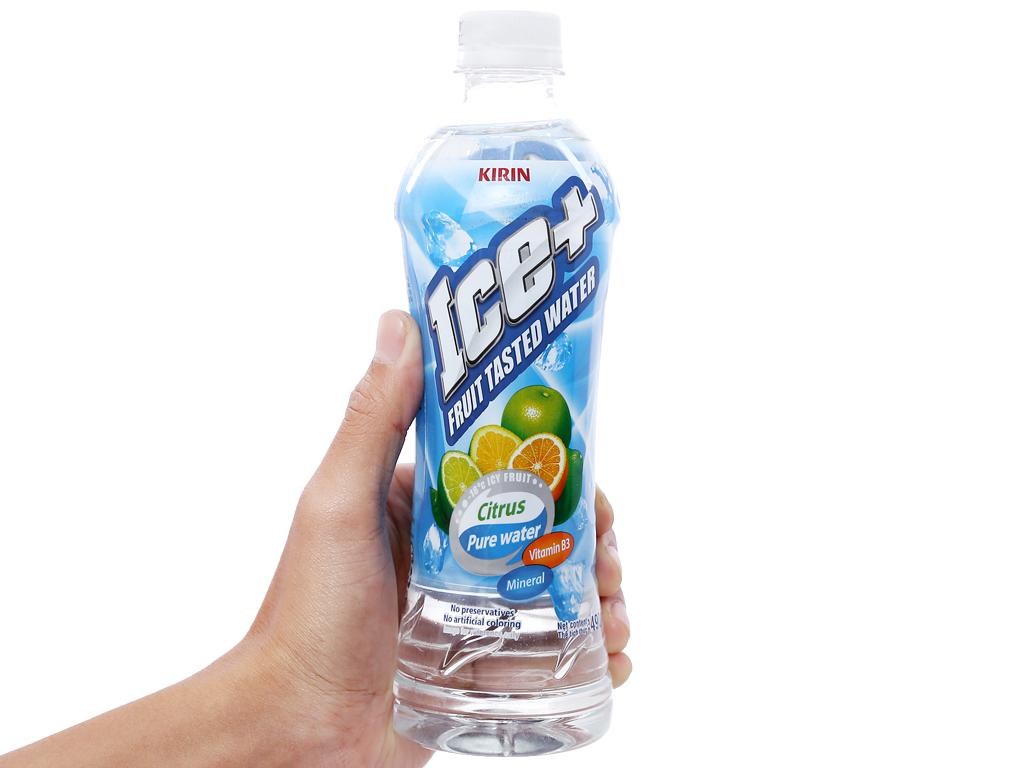 Thùng 24 chai nước trái cây Ice+ vị cam chanh 490ml 6