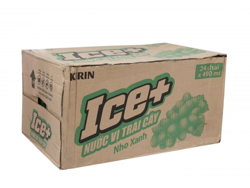 Thùng 24 chai nước trái cây Ice+ vị nho 490ml 1